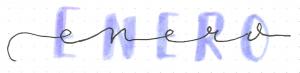 estilo de lettering uno sobre otro alargado y mayuscula