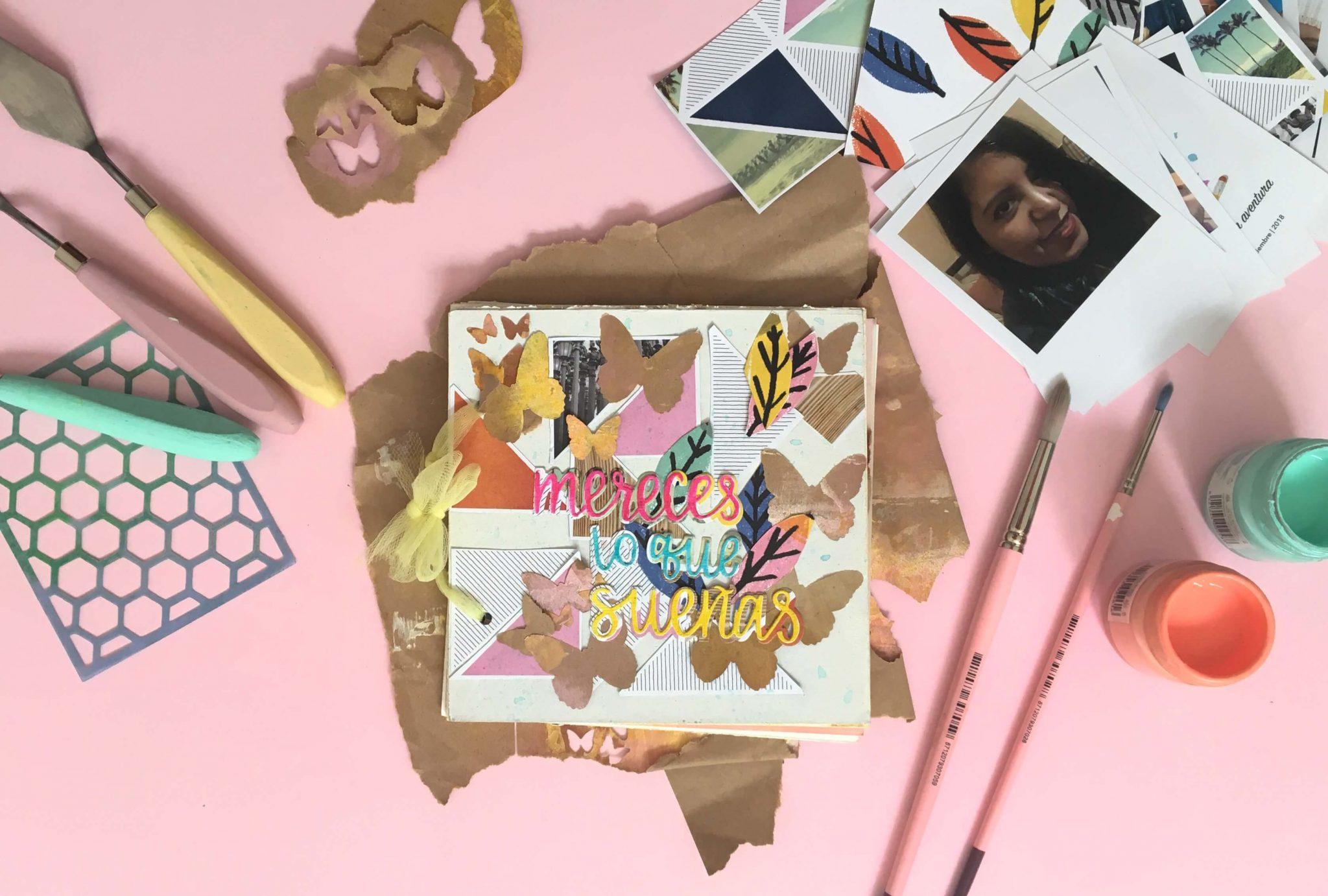 mini album mix media