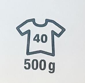 símbolo jersey con talla y peso necesario