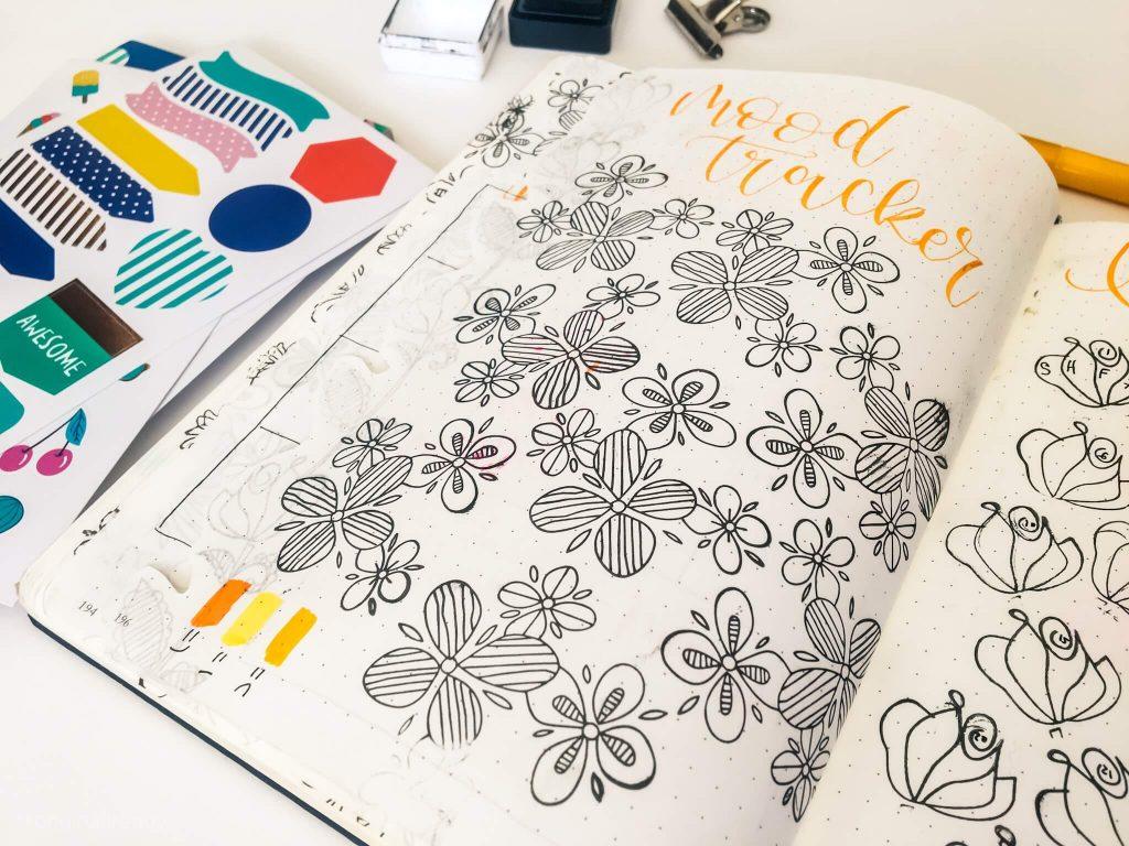 bullet journal octubre mood tracker