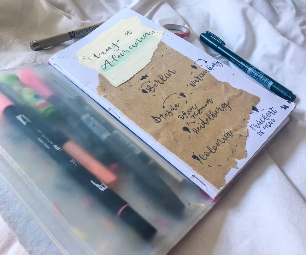 acaciones, scrap, lettering-portada-cuaderno-viaje