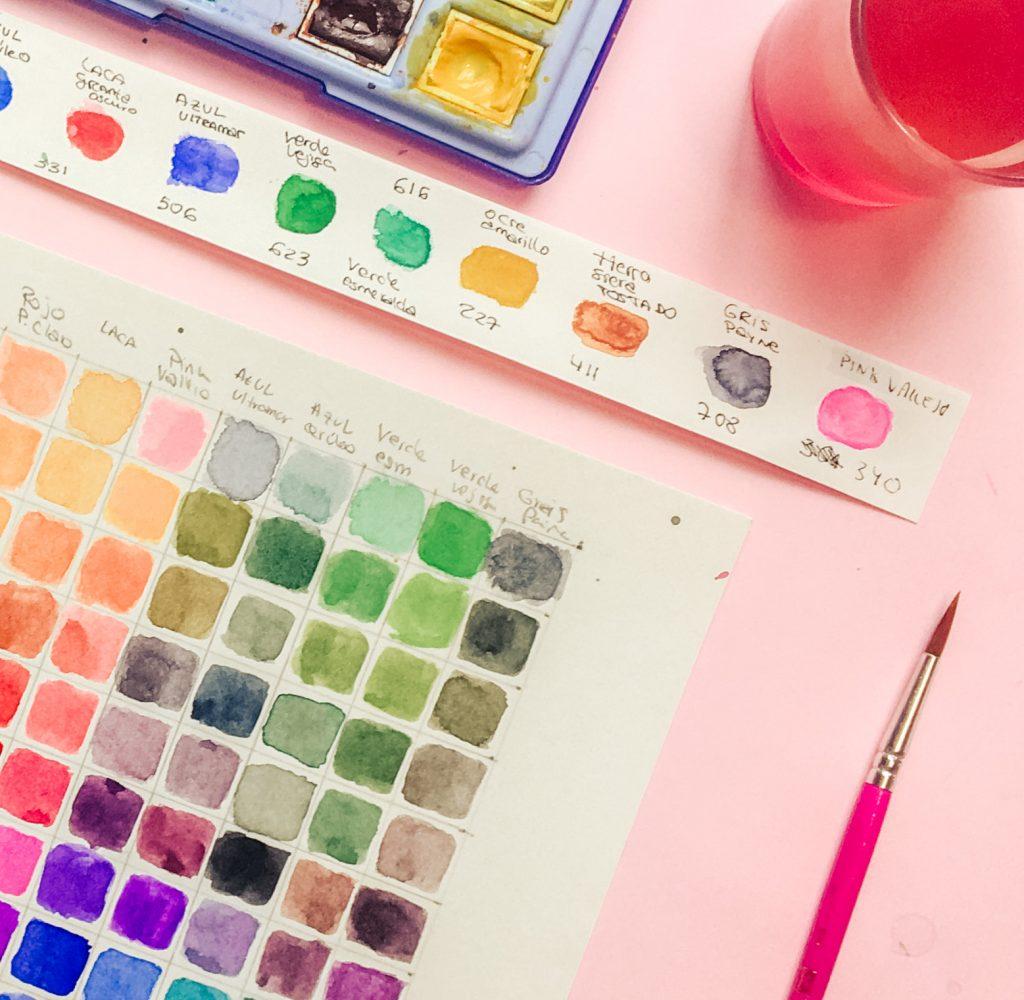 como hacer una paleta de color